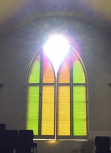 Stained glass shines