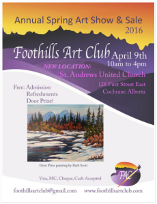 Foothills Art Club Spring show 2016